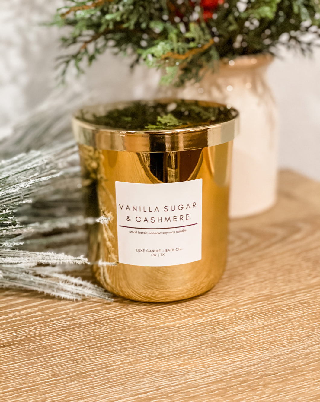 Deluxe Gold 2 Wick Candle
