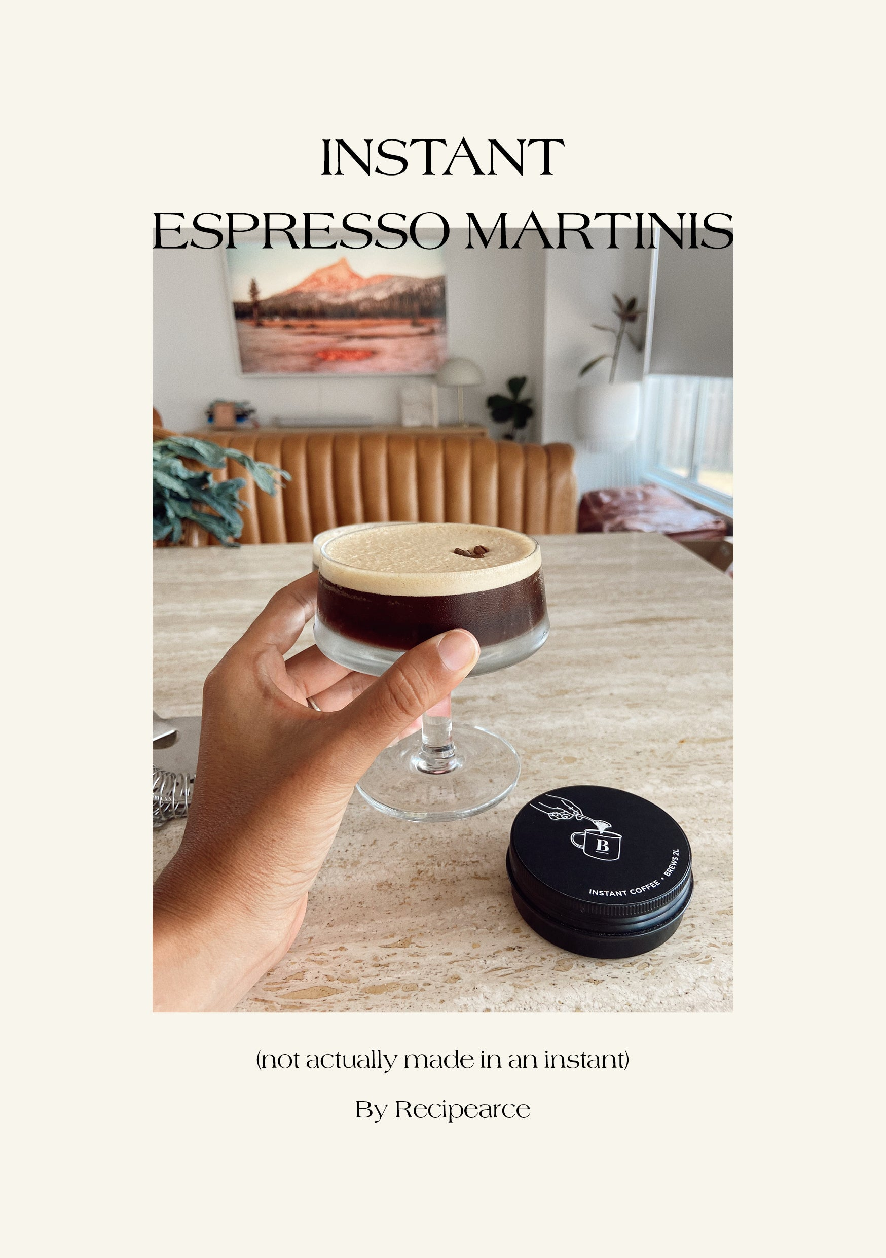 Instant Espresso Martinis Recipearce Blackboard Coffee Roasters
