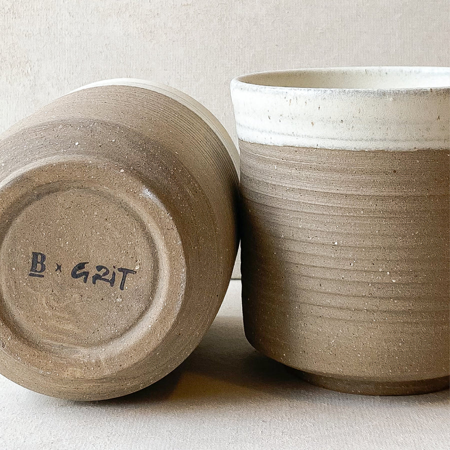 Set of 4 Ceramic Cups | Grit x Blackboard Coffee