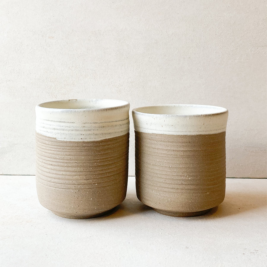 Set of 2 Ceramic Cups | Grit x Blackboard Coffee