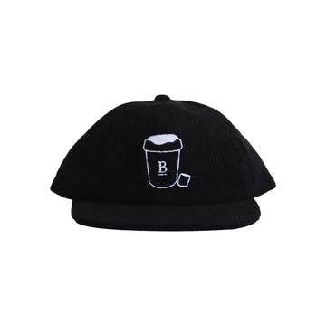 Kids Babycino Black Corduroy Hat