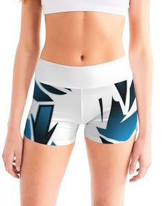 Wildstyle Decade Women's Mid-Rise Yoga Shorts
