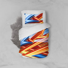 Load image into Gallery viewer, King Zoom ZigZag Twin Duvet Cover Set