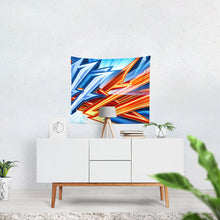 "Load image into Gallery viewer, King Zoom ZigZag Tapestry 60""x51"""