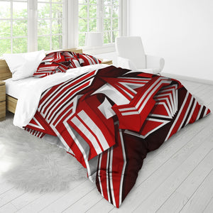EXCLUSIVE 2019: KING DROP: Red and White Colorway Queen Duvet Cover Set