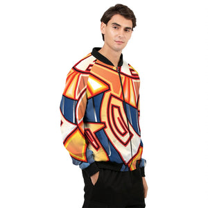 Maya Orange Colorway Men's Bomber Jacket
