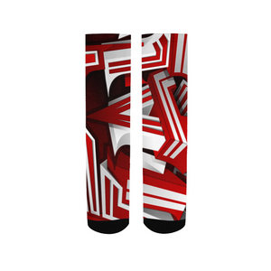 EXCLUSIVE 2019: KING DROP: Red and White Colorway Men's Socks