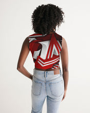 Load image into Gallery viewer, EXCLUSIVE 2019: KING DROP: Red and White Colorway Women's Twist-Front Tank