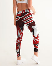Load image into Gallery viewer, EXCLUSIVE 2019: KING DROP: Red and White Colorway Women's Yoga Pant