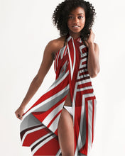 Load image into Gallery viewer, EXCLUSIVE 2019: KING DROP: Red and White Colorway Swim Cover Up