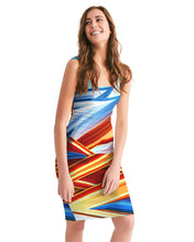 Load image into Gallery viewer, King Zoom ZigZag Women's Midi Bodycon Dress