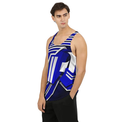 KING ZOOM EXCLUSIVE 2019 DROP: Blue and White Colorway Men's Tank