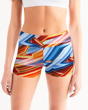 Load image into Gallery viewer, King Zoom ZigZag Women's Mid-Rise Yoga Shorts