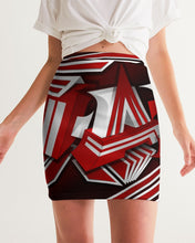 Load image into Gallery viewer, EXCLUSIVE 2019: KING DROP: Red and White Colorway Women's Mini Skirt