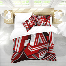 Load image into Gallery viewer, EXCLUSIVE 2019: KING DROP: Red and White Colorway Queen Duvet Cover Set