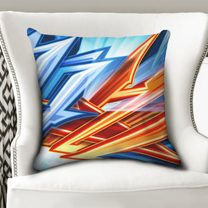"King Zoom ZigZag Throw Pillow Case 20""x20"""