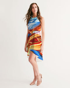 King Zoom ZigZag Women's High-Low Halter Dress