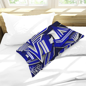 KING ZOOM EXCLUSIVE 2019 DROP: Blue and White Colorway Queen Pillow Case