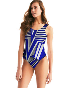KING ZOOM EXCLUSIVE 2019 DROP: Blue and White Colorway Women's One-Piece Swimsuit
