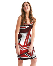 Load image into Gallery viewer, EXCLUSIVE 2019: KING DROP: Red and White Colorway Women's Midi Bodycon Dress