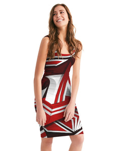 EXCLUSIVE 2019: KING DROP: Red and White Colorway Women's Midi Bodycon Dress