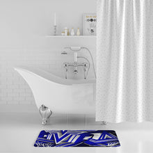 Load image into Gallery viewer, KING ZOOM EXCLUSIVE 2019 DROP: Blue and White Colorway Bath Mat