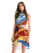 Load image into Gallery viewer, King Zoom ZigZag Women's High-Low Halter Dress