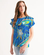 Load image into Gallery viewer, Starshine Women's Short Sleeve Chiffon Top