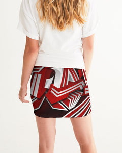 EXCLUSIVE 2019: KING DROP: Red and White Colorway Women's Mini Skirt