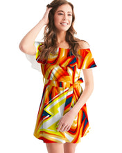 Load image into Gallery viewer, Zoom FIre  Women's Off-Shoulder Dress