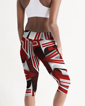 Load image into Gallery viewer, EXCLUSIVE 2019: KING DROP: Red and White Colorway Women's Mid-Rise Capri