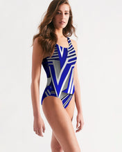 Load image into Gallery viewer, KING ZOOM EXCLUSIVE 2019 DROP: Blue and White Colorway Women's One-Piece Swimsuit