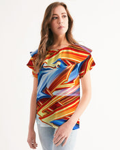 Load image into Gallery viewer, King Zoom ZigZag Women's Short Sleeve Chiffon Top