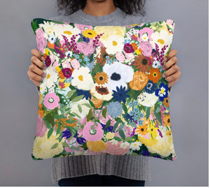 Floral Art Print Pillow