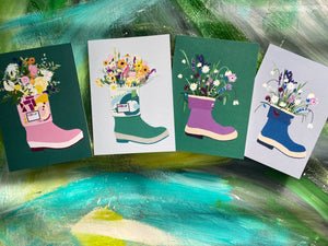 Wild Flower and Xtratuf Card (or pack of 4)