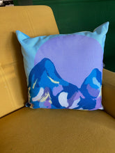 Load image into Gallery viewer, Mountain and Abstract Print Pillow