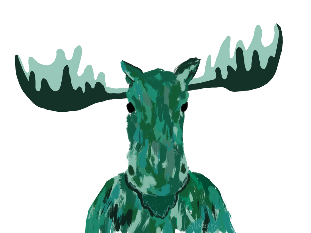 """Mr Moose Man"" Print"
