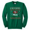 NFL - All I Want For Christmas Is San Francisco 49ers Football Shirts-T-shirt-Youth Crewneck Sweatshirt-Kelly Green-XS-PopsSpot