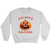 NFL - Atlanta Falcons Pumpkin Football Shirt-T-shirt-Crewneck Sweatshirt-White-S-Itees Global