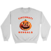 NFL - Cincinnati Bengals Pumpkin Football Shirt-T-shirt-Crewneck Sweatshirt-White-S-Itees Global