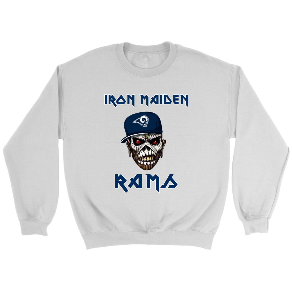 NFL - Los Angeles Rams Iron Maiden Heavy Metal Football Sweatshirt ... ce453f25f