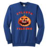 NFL - Atlanta Falcons Pumpkin Football Shirt-T-shirt-Youth Crewneck Sweatshirt-Royal Blue-XS-Itees Global