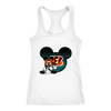 NFL – Cincinnati Bengals Mickey Mouse Football Shirts-T-shirt-Next Level Racerback Tank-White-XS-PopsSpot