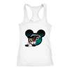 NFL – Atlanta Falcons Mickey Mouse Football Shirts-T-shirt-Next Level Racerback Tank-White-XS-PopsSpot