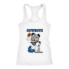 NFL – Funny Dallas Cowboys Mickey Mouse Super Bowl Football TShirt-T-shirt-Next Level Racerback Tank-White-XS-PopsSpot
