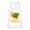 NFL - Chicago Bears Sunflower Football NFL Shirts-T-shirt-Next Level Racerback Tank-White-XS-Itees Global