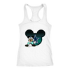 NFL – Dallas Cowboys Mickey Mouse Football Shirts-T-shirt-Next Level Racerback Tank-White-XS-Itees Global