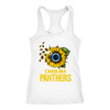 NFL - Carolina Panthers Sunflower Football NFL Shirts-T-shirt-Next Level Racerback Tank-White-XS-Itees Global