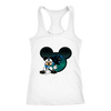 NFL – Carolina Panthers Mickey Mouse Football Shirts-T-shirt-Next Level Racerback Tank-White-XS-Itees Global