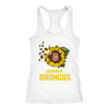 NFL - Denver Broncos Sunflower Football NFL Shirts-T-shirt-Next Level Racerback Tank-White-XS-Itees Global